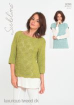 Sublime Luxurious Tweed DK - 6096 Tops Knitting Pattern